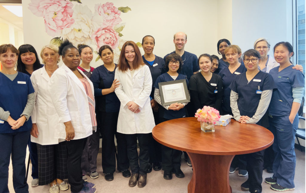 Unite Here Wellness & Dental Centre Team with SDG certificate of recognition from Rillea Technologies