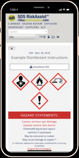 SDS RiskAssist™ 1-Page Summary - Phone Image