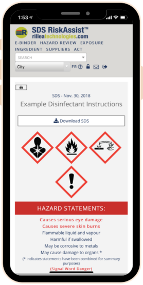 RiskAssist Page - Phone Image